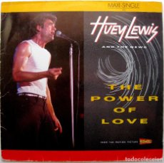 Discos de vinilo: HUEY LEWIS AND THE NEWS - THE POWER OF LOVE - MAXI CHRYSALIS 1985 GERMANY BPY. Lote 274685723
