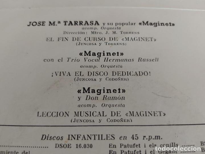 Discos de vinilo: JOSE Mª TARRASA Y SU POPULAR MAGINET / EP - LA VOZ DE SU AMO-1958 / MBC. ***/*** - Foto 3 - 274685743