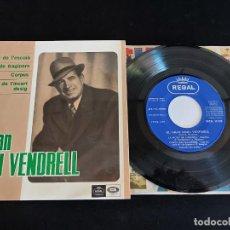 Discos de vinilo: EL GRAN EMILI VENDRELL / LA MORT DE L'ESCOLÀ + 3 / EP - REGAL-1966 / MBC. ***/***. Lote 274686048