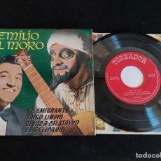 Discos de vinilo: EMILIO EL MORO / EL EMIGRANTE + 3 / EP-TOREADOR-1961 / MBC. ***/***. Lote 274687208