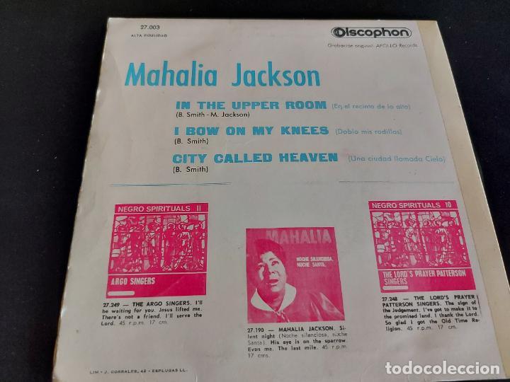 Discos de vinilo: MAHALIA JACKSON / NEGRO SPIRITUALS / EP-DISCOPHON-1961 / MBC. ***/*** - Foto 2 - 274687968