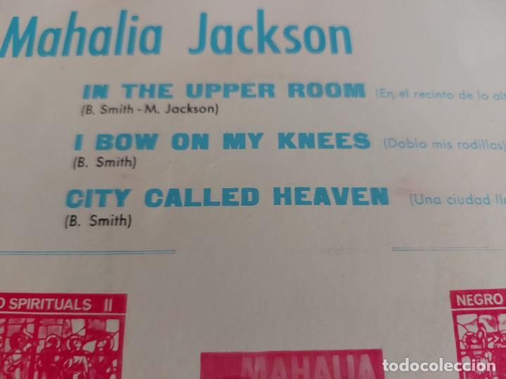 Discos de vinilo: MAHALIA JACKSON / NEGRO SPIRITUALS / EP-DISCOPHON-1961 / MBC. ***/*** - Foto 3 - 274687968
