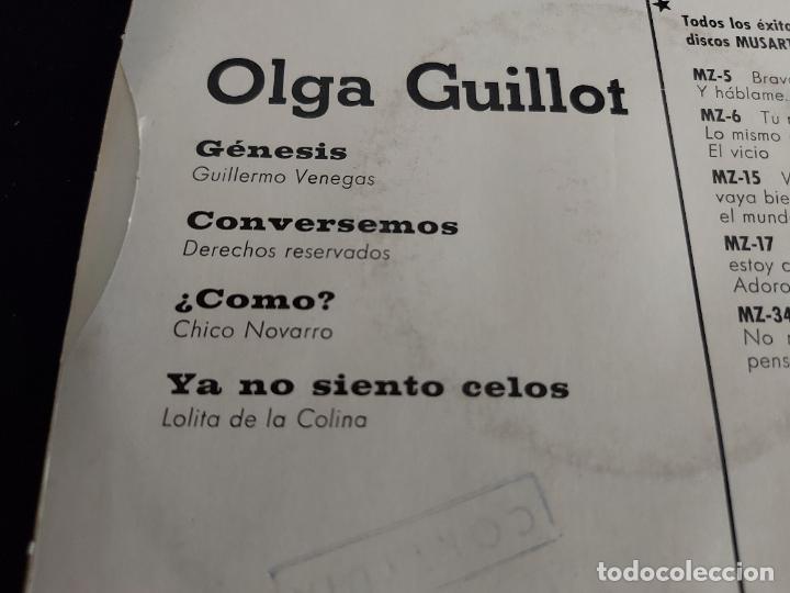 Discos de vinilo: OLGA GUILLOT / GENESIS / EP - ZAFIRO-1969 / MBC. ***/*** - Foto 3 - 274688628