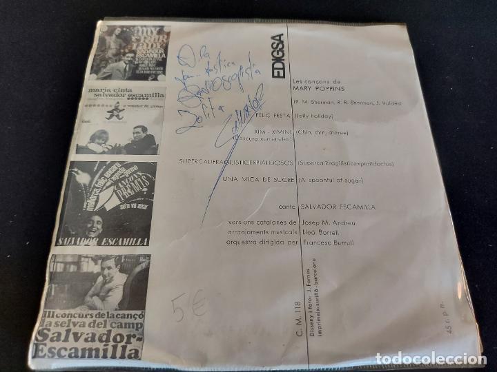 Discos de vinilo: FIRMADO !! SALVADOR ESCAMILLA / LES CANÇONS DE MARY POPPINS / EP-EDIGSA-1965 / MBC. ***/*** - Foto 2 - 274694168