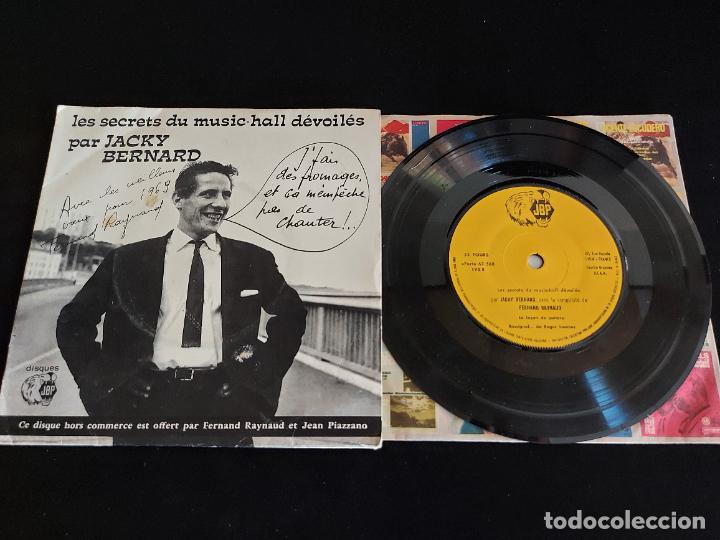 LES SECRETS DU MUSIC HALL DÉVOLILÉS PAR JACKY BERNARD / EP-JBP / 33 R.P.M. / MBC. ***/*** (Música - Discos de Vinilo - EPs - Canción Francesa e Italiana)