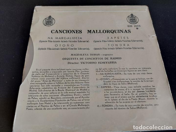 Discos de vinilo: MAGDALENA DURAN / CANCIONES MALLORQUINAS / EP-HISPAVOX - AÑOS 50 / MBC. ***/*** - Foto 2 - 274698558