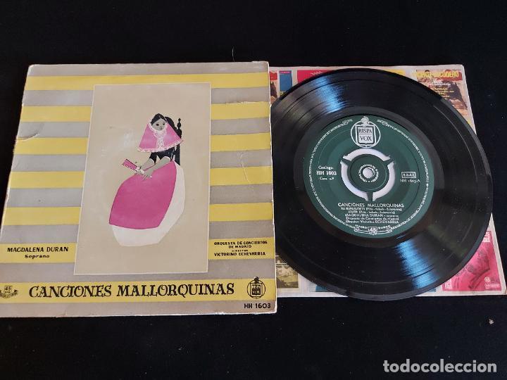 MAGDALENA DURAN / CANCIONES MALLORQUINAS / EP-HISPAVOX - AÑOS 50 / MBC. ***/*** (Música - Discos de Vinilo - EPs - Country y Folk)