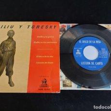 Discos de vinilo: MILIU Y TORESKY / EMILIO Y SU GORRA + 3 / EP - ODEON-1961 / MBC. ***/***. Lote 274700923