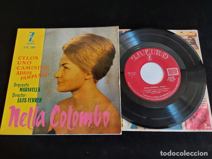 NELLA COLOMBO CON LA ORQUESTA MARAVELLA / CELOS + 3 / EP-ZAFIRO-1960 / MBC. ***/*** (Música - Discos de Vinilo - EPs - Grupos y Solistas de latinoamérica)