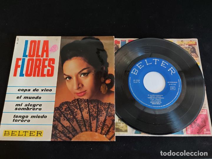 LOLA FLORES / COPA DE VINO + 3 / EP - BELTER-1966 / MBC. ***/*** (Música - Discos de Vinilo - EPs - Flamenco, Canción española y Cuplé)
