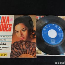 Discos de vinilo: LOLA FLORES / COPA DE VINO + 3 / EP - BELTER-1966 / MBC. ***/***. Lote 274705838