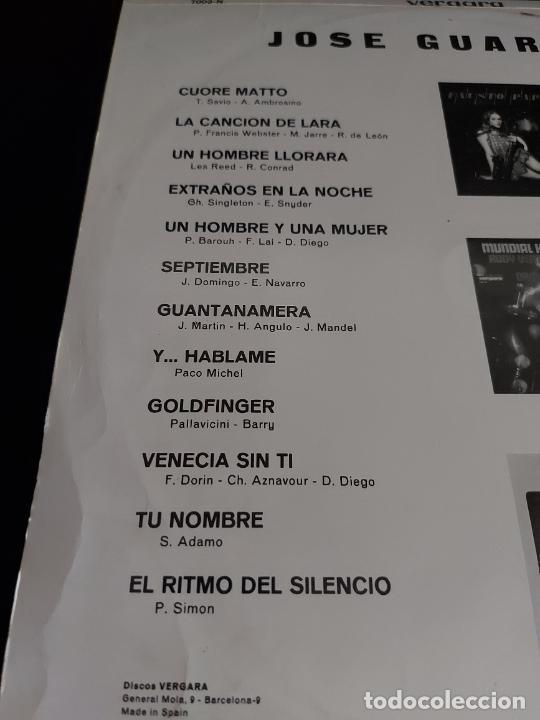 Discos de vinilo: JOSÉ GUARDIOLA / MISMO TÍTULO / LP - VERGARA-1967 / MBC. ***/*** - Foto 3 - 274800648