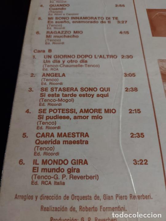 Discos de vinilo: NICOLA DI BARI / RECORDANDO A LUIGI TENCO / LP - RCA-VICTOR-1971 / MBC. ***/*** - Foto 4 - 274803333