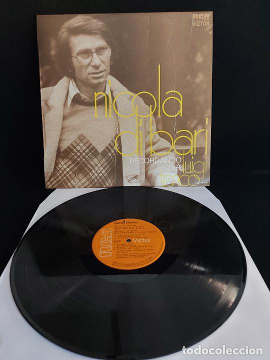 NICOLA DI BARI / RECORDANDO A LUIGI TENCO / LP - RCA-VICTOR-1971 / MBC. ***/*** (Música - Discos - LP Vinilo - Canción Francesa e Italiana)