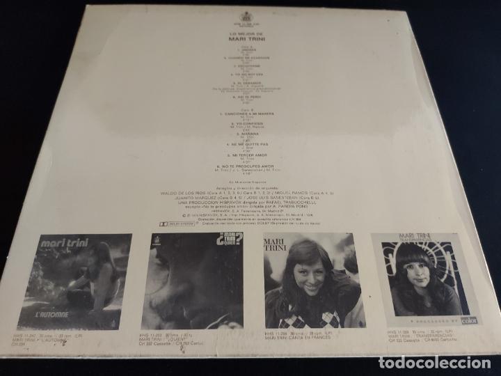 Discos de vinilo: LO MEJOR DE MARI TRINI / LP - HISPAVOX-1975 / MBC. ***/*** - Foto 2 - 274803878