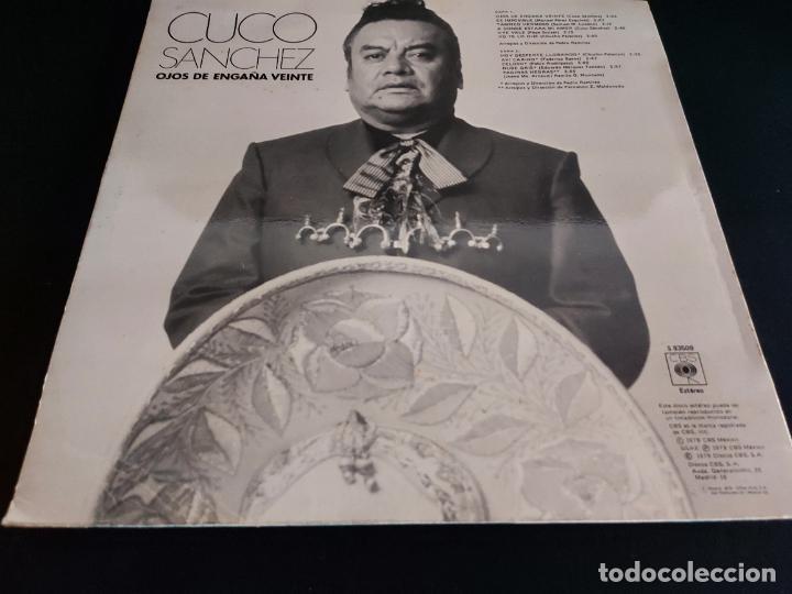 Discos de vinilo: CUCO SANCHEZ / OJOS DE ENGAÑA VEINTE / LP - CBS-1978 / MBC. ***/*** - Foto 2 - 274805953