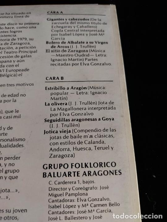 Discos de vinilo: BALUARTE ARAGONÉS / MISMO TÍTULO / LP - BDA-1979 / MBC. ***/*** - Foto 3 - 274815173