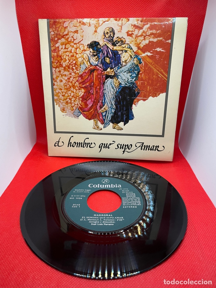 MADROÑAL - B.S.O. EL HOMBRE QUE SUPO AMAR (COLUMBIA, 1975) PROMO - PORTADA DOBLE (Música - Discos - Singles Vinilo - Country y Folk)