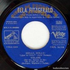 Discos de vinilo: ELLA FITZGERALD - HELLO, DOLLY! - EP PROMO SPAIN 1964 - LA VOZ DE SU AMO - 7EPL 14.118 - BEATLES. Lote 274846918
