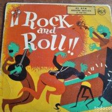 Discos de vinilo: VVAA - ROCK AND ROLL !! ********** RARO EP ESPAÑOL COMPARTIDO ELVIS PRESLEY ORIGINAL 1958. Lote 274855103