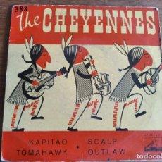 Discos de vinilo: THE CHEYENES - KAPITAO + 3 ********** RARO EP ESPAÑOL 1962 ROCK AND ROLL SURF. Lote 274855228