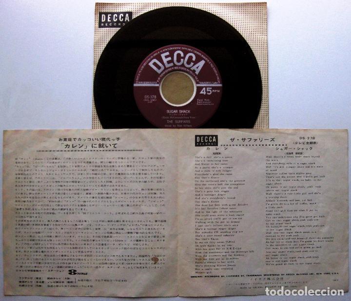 Discos de vinilo: The Surfaris - Karen / Sugar Shack - Single Decca 1965 Japan Japon Surf BPY - Foto 3 - 274873958