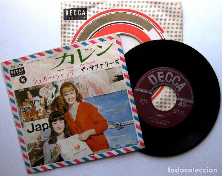 THE SURFARIS - KAREN / SUGAR SHACK - SINGLE DECCA 1965 JAPAN JAPON SURF BPY (Música - Discos - Singles Vinilo - Rock & Roll)