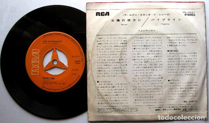 Discos de vinilo: The Astronauts - Movin / Pipeline - Single RCA 1972 Japan Japon Surf BPY - Foto 2 - 274874448