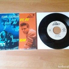 Discos de vinilo: EDDIE COCHRAN - JELLY BEAN / DON'T BYE BYE BABY ME (1950S ROCKABILLY JIVE) REPRO. Lote 274874528
