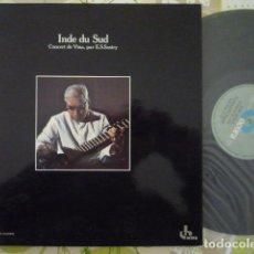 Discos de vinil: EMANI SHANKARA SASTRY - INDE DU SUD, CONCERT DE VINA (OCORA, FR, RE 1984). Lote 274886063