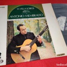 Discos de vinilo: ANTONIO MEMBRADO H.VILLA LOBOS CORO 1/ESTUDIOS 5-6-8-11/PRELUDIOS 1-3-4-5 LP 1968 SPAIN GUITAR EX. Lote 274888938