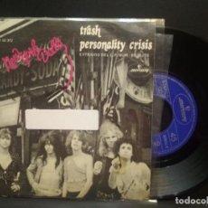 Discos de vinilo: NEW YORK DOLLS TRASH SINGLE SPAIN 1974 PDELUXE. Lote 274908523