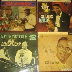 Discos de vinilo: NAT KING COLE - LOTE DE 4 EPS - VER FOTOS. Lote 274937928