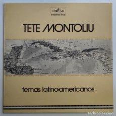 Discos de vinilo: TETE MONTOLIU - TEMAS LATINOAMERICANOS LP 1974 PRIMERA EDICION - ENSAYO - LATIN JAZZ. Lote 275058123