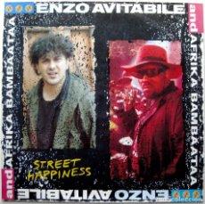 Discos de vinilo: ENZO AVITABILE AND AFRIKA BAMBAATAA - STREET HAPPINESS - MAXI BLANCO Y NEGRO 1989 (NEO SOUL) BPY. Lote 275061248