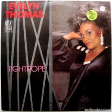 Discos de vinilo: EVELYN THOMAS - TIGHTROPE - MAXI ZAFIRO 1986 BPY. Lote 275072838