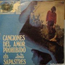Discos de vinilo: ELS SAPASTRES - CANCIONES DE AMOR PROHIBIDO (VG+/G+) CATALÁ. Lote 275075073