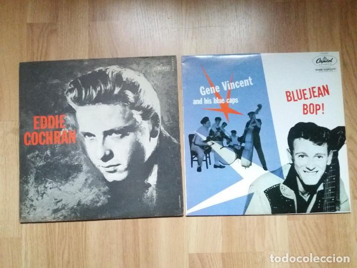 EDDIE COCHRAN GENE VINCENT LOTE CON REGALO !!!!!! (Música - Discos - LP Vinilo - Rock & Roll)