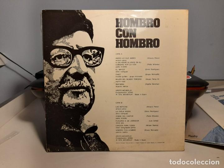 Discos de vinilo: LP HOMBRO CON HOMBRO ( CANTAN VICTOR JARA, SILVIO RODRIGUEZ, PABLO MILANES, AMAURY PEREZ, ETC ) - Foto 3 - 275166393