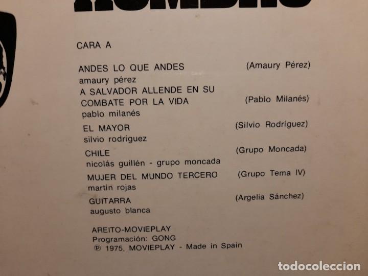 Discos de vinilo: LP HOMBRO CON HOMBRO ( CANTAN VICTOR JARA, SILVIO RODRIGUEZ, PABLO MILANES, AMAURY PEREZ, ETC ) - Foto 4 - 275166393