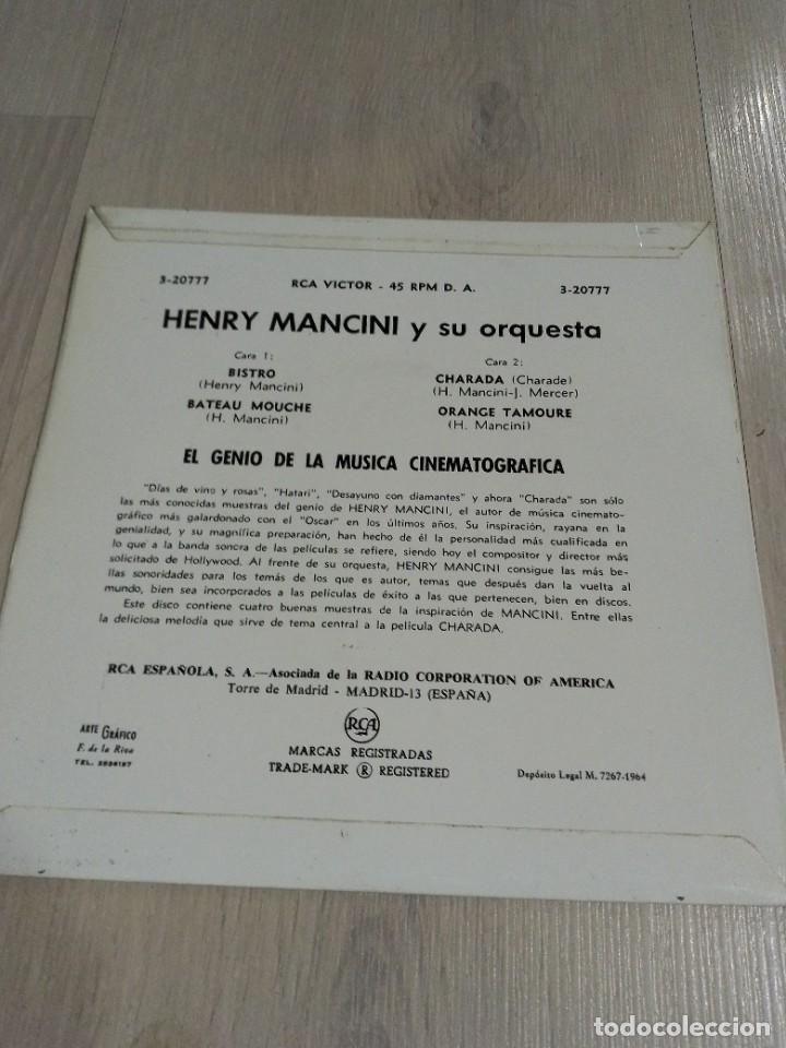"Discos de vinilo: EP Henry Mancini ""Charade"" 1964 - Foto 2 - 275167758"