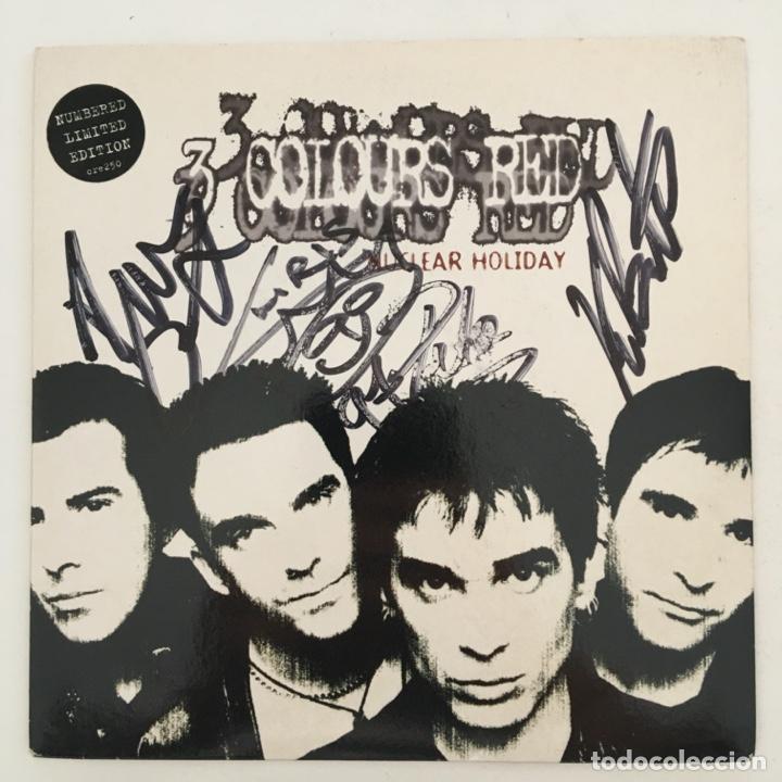 FIRMADO, 3 COLOURS RED – NUCLEAR HOLIDAY, UK 1997 CREATION RECORDS (Música - Discos - Singles Vinilo - Pop - Rock Internacional de los 90 a la actualidad)
