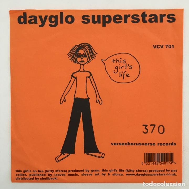 Discos de vinilo: Dayglo Superstars – This Girls On Fire, Orange, UK 2002 Versechorusverse Records - Foto 2 - 275170433