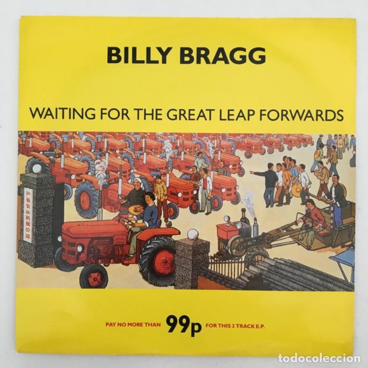 BILLY BRAGG – WAITING FOR THE GREAT LEAP FORWARDS, UK 1988 GO! DISCS (Música - Discos - Singles Vinilo - Pop - Rock Internacional de los 90 a la actualidad)
