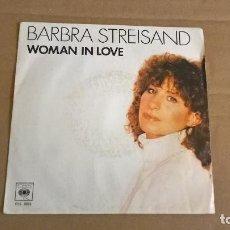 Discos de vinilo: BARBRA STREISAND. WOMAN IN LOVE. RUN WILD. CBS 1980.. Lote 275246163