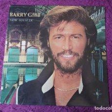 Discos de vinilo: BARRY GIBB – NOW VOYAGER , VINYL LP 1984 MCA-5506. Lote 275269418