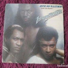 """Disques de vinyle: IMAGINATION – JUST AN ILLUSION, VINYL 7"""" SINGLE 1982 SPAIN 02.3320/4 PROMO. Lote 275286533"""