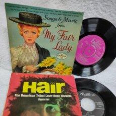 Discos de vinilo: MY FAIR LADY- HAIR - EDICIONES FRANCESAS. Lote 275286728