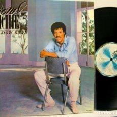 Discos de vinilo: LIONEL RICHIE CAN'T SLOW DOWN VINYL LP. Lote 275292853