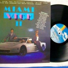 Disques de vinyle: MIAMI VICE II MUSIC FROM THE TV SERIES CON DON JOHNSON VINYL LP. Lote 275293978